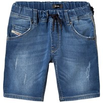 Diesel Blue Mid Wash Jog Jean Shorts K01