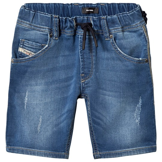 Diesel JoggJean Shorts Blue Mid Wash K01