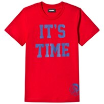 Diesel Red Time 2 Party Print Tee K405