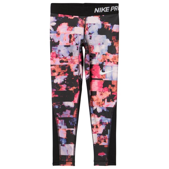 NIKE Pink Printed Leggings HYPER CRIMSON/BLACK/BLACK/WHITE