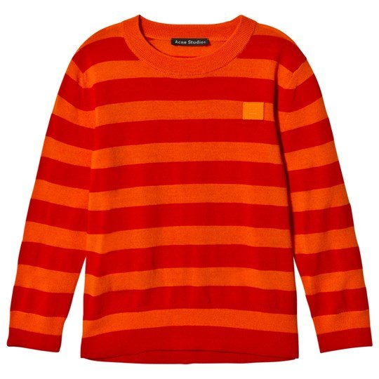 Acne Studios Mini Nalon Tröja Geranium Orange Geranium Orange