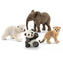 Schleich 4 Baby Animals in the Wilderness White