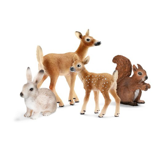 Schleich 4 Woodland Animals BROWN