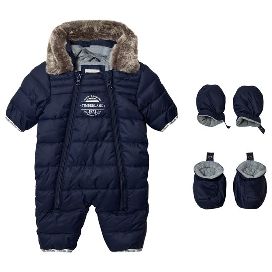 Timberland Navy Puffer Hooded Coverall