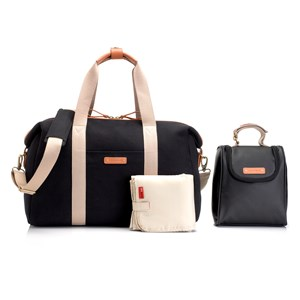 Image of Storksak Bailey Changing Bag Black Canvas (2743693873)