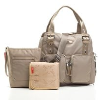 Storksak Alexa Changing Bag Nylon Taupe Musta
