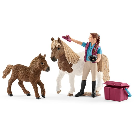 Schleich Stablehand with Shetland Ponies Unisex