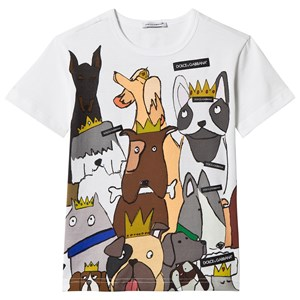 Image of Dolce & Gabbana White D&G Dogs Branded Tee Chinese New Year 10 years (2879582679)