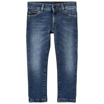 Dolce & Gabbana Mid Wash Slim Leg Jeans with Branded Plaque B9110