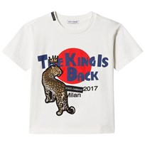 Dolce & Gabbana White Leopard King Is Back Tee (Mini Me) HWG04