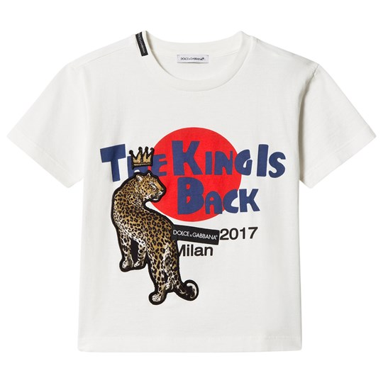 Dolce & Gabbana White Leopard Tee Mini Me King Is Back HWG04