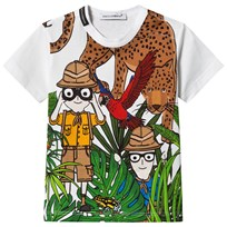 Dolce & Gabbana Dolce & Gabbana Cartoon Jungle Print Tee HWI99