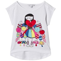 Little Marc Jacobs White Miss Marc Sweetie Print Tee 10B