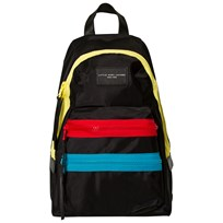 Little Marc Jacobs Mini Me Black Multi Zip Backpack 09B