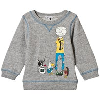 Little Marc Jacobs Grey Mr Marc and Band Friends Sweatshirt A35