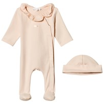 Chloé Rose Pink Footed Baby Body and Hat Gift Set 471