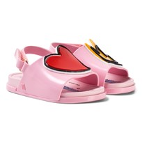 Mini Melissa Pink Vivienne Westwood Heart and Crown Beach Slides 53249