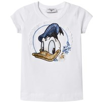 Monnalisa White Donald Duck Diamante Tee 9954