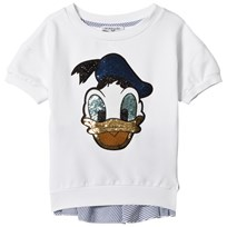 Monnalisa White Sequin Donald Duck Sweatshirt 9954
