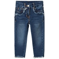 Monnalisa Dark Wash Diamante Donald Duck Jeans 55