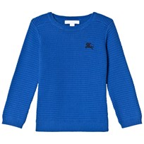 Burberry Cobalt Blue Knit Eddy Jumper Cobalt Blue