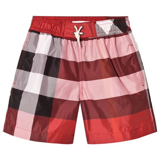 Burberry Parade Red Check Swim Shorts Parade Red