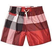 Burberry Parade Red Check Saxon Swim Shorts Parade Red