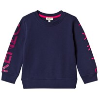 Kenzo Navy and Pink Logo Sweatshirt 49