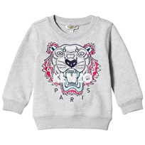 Kenzo Grey Multi Color Embroidered Sweatshirt 22