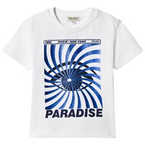 Kenzo White and Blue Eye Print Tee 01