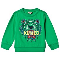 Kenzo Green Embroidered Tiger Sweatshirt 05