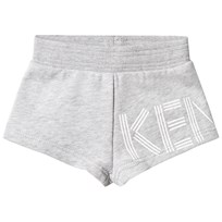 Kenzo Grey Melange Logo Sweat Shorts 22
