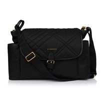 Burberry Black Nylon Branded Changing Bag Black