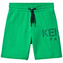 Kenzo Green Logo Sweat Shorts 05