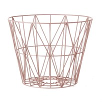ferm LIVING Medium Wire Basket - Rose Multi