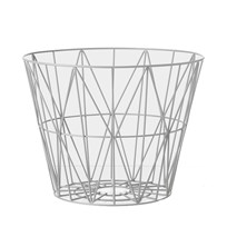 ferm LIVING Medium Wire Basket - Light Grey Light Grey