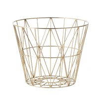 ferm LIVING Medium Wire Basket - Brass Brass