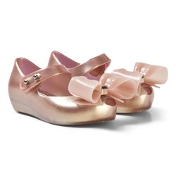 Mini Melissa Pink Ultragirl Bow Pearlescent Shoes