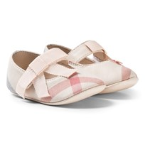 Burberry Pale Classic Check Crib Shoes Pale Classic Check