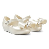 Mini Melissa White Ultragirl Bow Pearlescent Shoes 06587