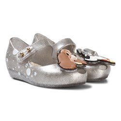 Mini Melissa Silver Glitter Lady and the Tramp Shoes