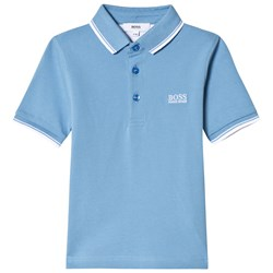 BOSS Blue Branded Pique Polo
