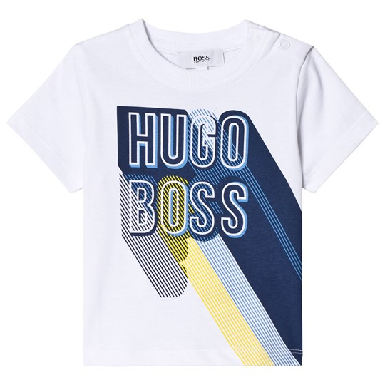 BOSS Branded Graphic T-shirt Vit 10B