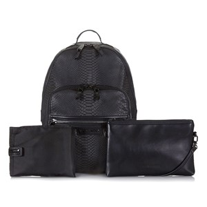 Image of Tiba + Marl Black Snake Elwood Backpack Changing Bag (2882745571)