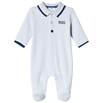 BOSS Pale Blue Branded Footed Baby Body 771