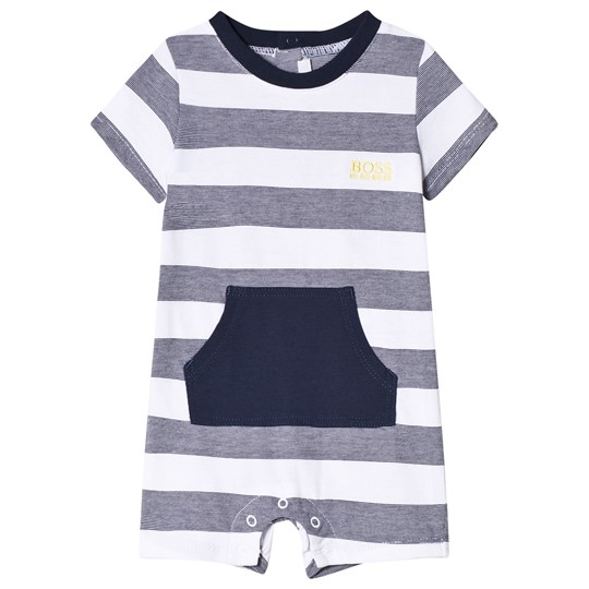 BOSS Blue and White Jersey Romper N68