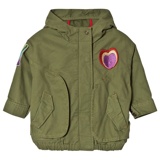 Little Marc Jacobs Olive Branded Parka with Badges 643