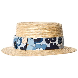 Image of Chloé Floral Poplin Ribbon Straw Hat 56 (10-12 years) (2884165735)