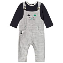Catimini Navy Tee and Dungarees Mock Outfit All in One 49