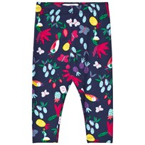 Catimini Floral and Tropical Birds Print Leggings Marinblå 88